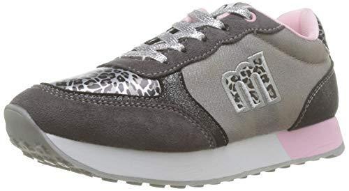 MTNG Jungen 47766 Sneaker, Grau Nuez Gris Leoto Plata Sunlight Plata Scarab Plomo C47666, 35 EU