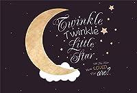 新しいトゥインクルトゥインクルリトルスターベビーシャワーの背景7x5ftかわいい月と星の写真の背景誕生日ベビーシャワーパーティーの装飾画像booth小道具デジタル壁紙