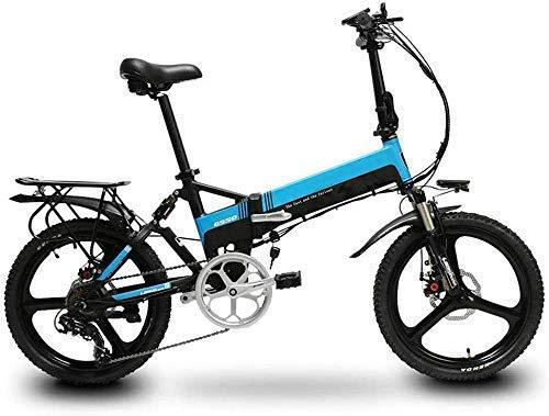 Bicicleta ectricita Plegable, Bicicleta Plegable Ligera y de Aluminio con Pedales Antideslizantes a Prueba de explosiones Batería de Litio Bicicleta Aventura al Aire Libre, D BJY969