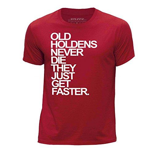 STUFF4 Jungen/Alter 12-14 (152-164cm)/Rot/Rundhals T-Shirt/Old Holdens/Holden Never Die