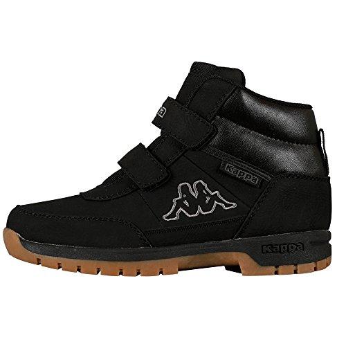 Kappa BRIGHT Unisex-Kinder Hohe Sneakers, Schwarz (Black 1111), 32 EU