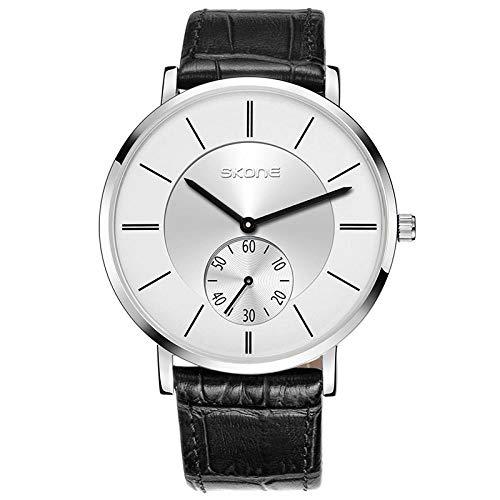 Armbanduhr,Casual Gürtel Quarzuhr Modetrend Ultradünne Zweihanduhr, D