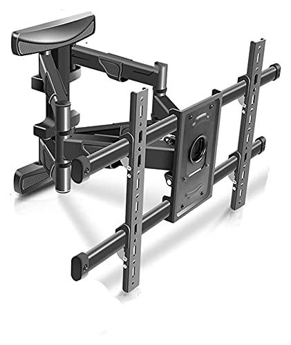 Soporte ajustable para TV de pared con movimiento completo giratorio de extensión de inclinación para la mayoría de 37 a 80 pulgadas (color negro)