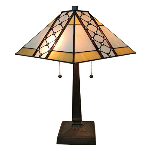 Amora Lighting AM237TL14 Tiffany Style Mission Table Lamp 21 In High