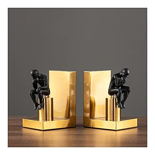 Sujetalibros de soporte decorativo organizador de escritorio estatuas de estantería para adornos, decoración del hogar