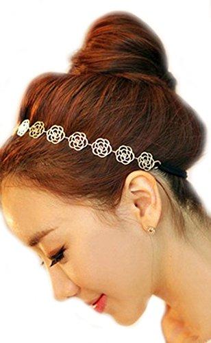Unbekannt Haarband Vintage Metallband Haarkette Haarreifen Kette Haar Kopfschmuck -