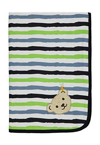 Steiff Baby-Jungen Decke, Mehrfarbig (Allover|Multicolored 0003), Einheitsgröße