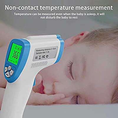 Non-Contact Forehead/Ear Infrared Thermometer for Baby, Children, Adult Safe Fast Daily Body & Room Temperature Detector