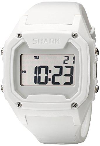 Freestyle Shark Classic 101057 - Reloj Digital de Cuarzo para Hombre, Correa de Silicona Color Blanco (Alarma, Registro de Vueltas, luz, cronómetro)