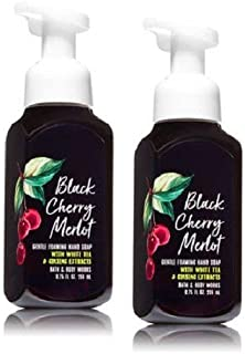 Bath and Body Works Gentle Foaming Hand Soap, Black Cherry Merlot 8.75 Ounce (2-Pack) with White Tea and Ginseng Extracts