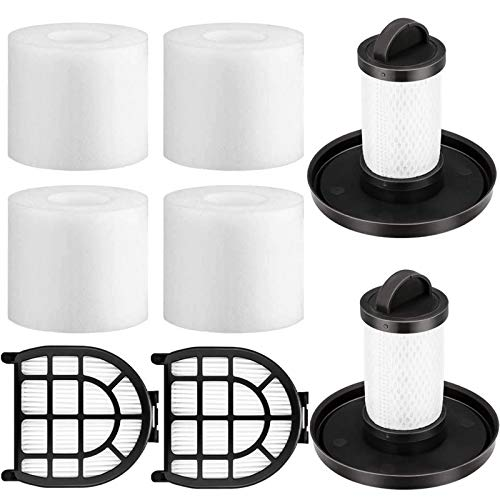 4 Foam & Felt Filters, 2 Pre-Motor Filter & 2 Post-Motor Hepa Filter for Shark LZ600, LZ601,LZ602, LZ602CAPEXUpLightLift-Away Duo Clean Vacuum Cleaner.Compare to Part # XFFLZ600 & XHFFC600【4+2+2】