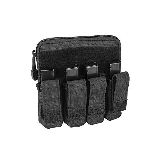 ProCase Tactical Pistol Mag Pouch, Molle Pistol Handgun Rifle Magazine Bag EDC Tool Pouch Cartridge Mag Holder voor Glock M1911 92F Smith Wesson Ruger Sig Sauer Beretta HK AR USP en meer –Zwart