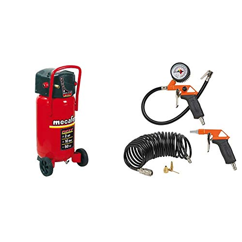 Mecafer 425090 Compresseur 50 L 2 hp fifty mecafer & Black&Decker 9045854BND Accessoires pour compresseur, Noir