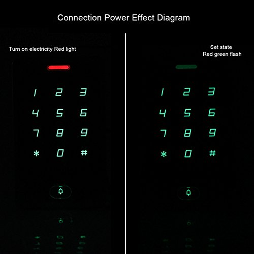 TIVDIO T-AC800 Access Control System Door Keypad Locks Touch Keypad Access Control Keypad Door Lock Outdoor 125KHz Back Light Keypad ID Support 8000 User (Silver)