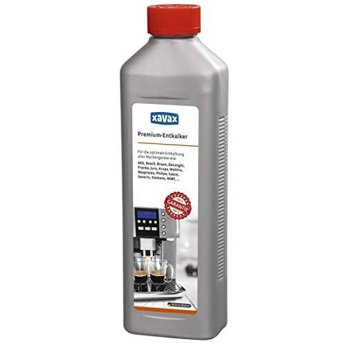 Xavax Premium Entkalker 500 ml (Universal-Entkalker für Kaffeevollautomaten und Espressomaschinen)