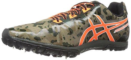 ASICS Men's Freak 2 Cross-Country Running Shoe, Dusky Green/Hot Orange/Duffel Bag, 10.5 M US