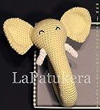 Sonajero para bebé de crochet, Unisex. Elefante de color Amarillo claro,...