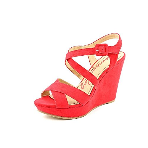 American Rag Womens Rachey Peep Toe Casual Platform Sandals, Red, Size 9.0