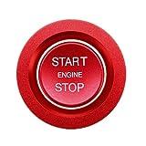 Viviance Botón De Arranque del Coche Tapa del Interruptor del Motor De Carbono para La-nd Ro-Ver Discovery 5 Discovery Sport Ran-GE Ro-Ver Sport Evoque Vogue Velar Ja-guar XF F-Pace E-Pace - Rojo