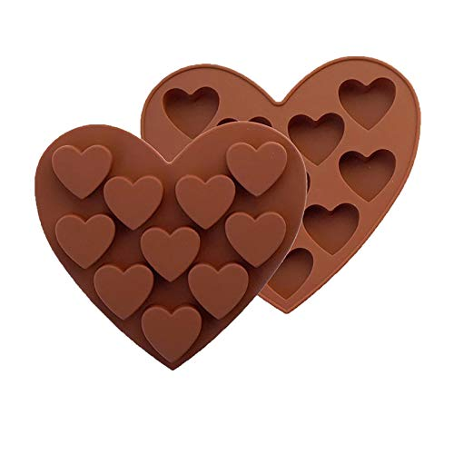 Printasaurus Heart Shaped Silicone Chocolate Molds Candy Mold, DIY Baking Trays 10-Cavity, Home & Garden Kitchen Dining & Bar