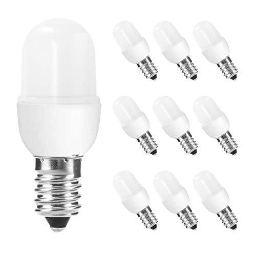 10er pack E14 1W LED Lampe,Kühlschranklampe,warmweiß,1W Nachtlicht (5W entspricht),nicht dimmbar,Matt,LED Birne Lampe Leuchtmittel Sparlampe Kühlschranklampe,für Home Dekoration Beleuchtung