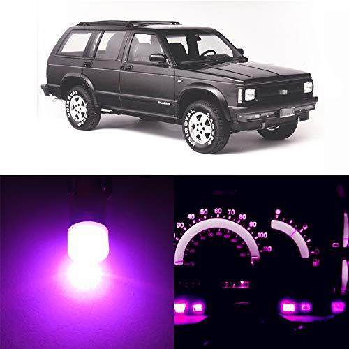 WLJH Zeer Helder Roze 12V Instrumentenpaneel streepje licht LED Gloeilampen lamppakketpakketten Lampen voor 1986-1994 Chevrolet S10 Blazer,8 Stuks