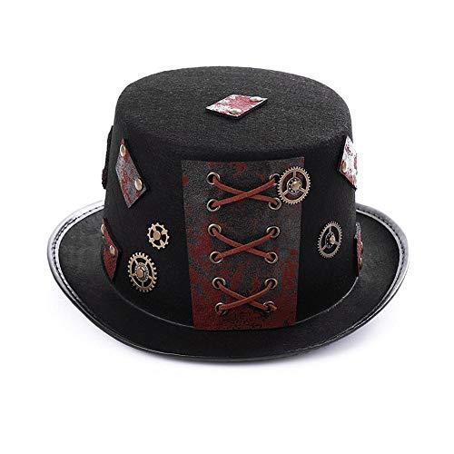 dewdropy Sombrero Steampunk, Steampunk Top Hat Accesorio De Vestuario Gótico...