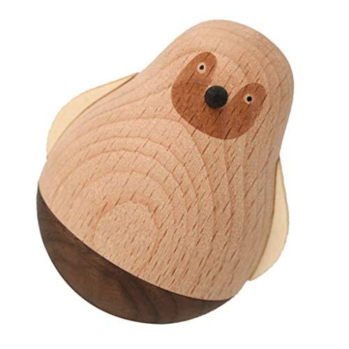 CUTICATE Holzspielzeug Stehaufmännchen Schreibtisch Spielzeug Wackelpuppe Dekoration - Pinguin