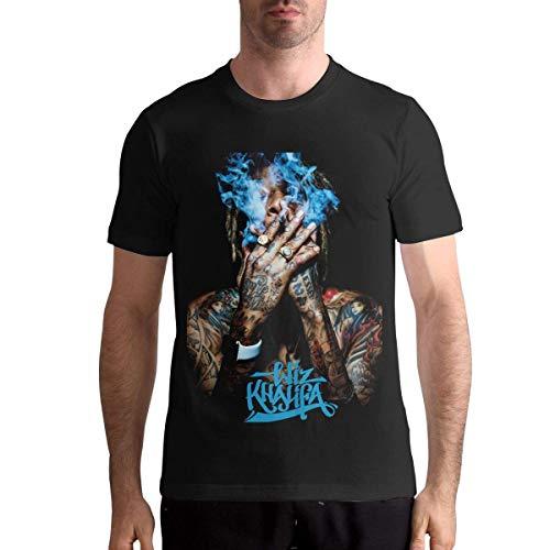 Quitelike Wiz Khalifa T Shirts Men's Tops Short Sleeved Round Neck Cotton tee Tops Camisetas Hombre