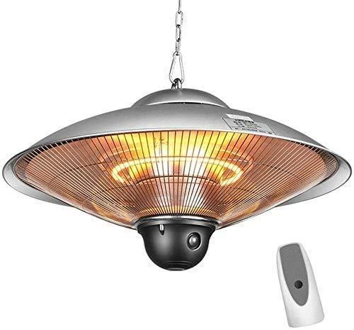 SEESEE.U Calentador Radiante Suspensión eléctrica Calefacción de Techo Calefacción Interior Exterior Impermeable IP44 3 Niveles de Potencia con Control Remoto