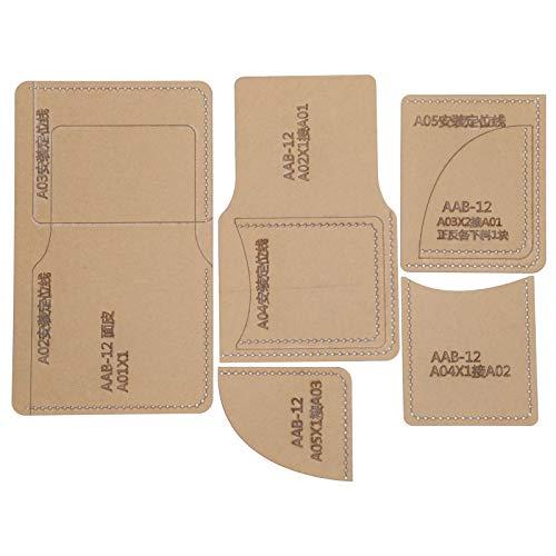 Brieftasche Leder handgefertigte Acryl-Schablone Crylic-Schablone Bastelwerkzeuge DIY-Acryl-Schablone 5-tlg