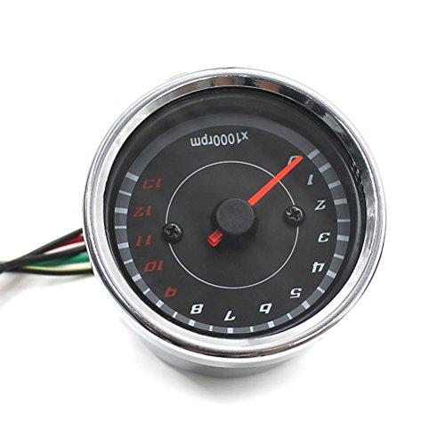 WINOMO - Tacómetro universal con retroiluminación para motocicletas, motos, barcos, barcos, náuticos