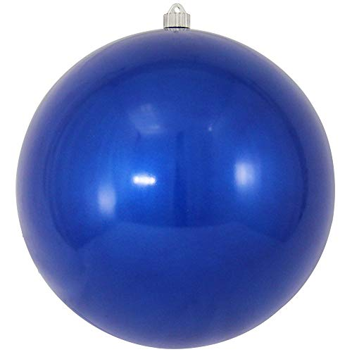 Christmas by Krebs Giant Commercial Shatterproof UV Resistant Plastic Christmas Ball Ornament, 12' (300mm), Candy Blue
