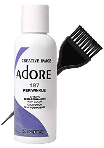 ADORE Creative Image Shining SEMI-PERMANENT Hair Color (STYLIST KIT) No Ammonia, No Peroxide, No Alcohol Haircolor Semi Permanent Dye (197 Periwinkle)