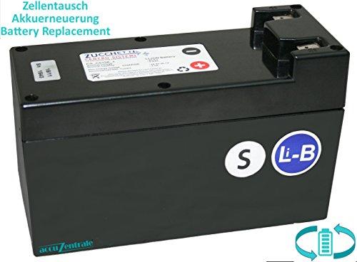 Zellentausch/Reparatur für Zucchetti CS_C0106_1 Akku für Rasenmäher Ambrogio L200 - Leistungssteigerung auf 8,7Ah