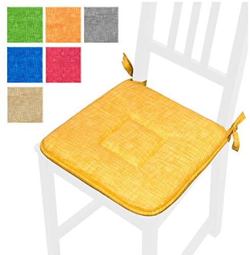 Coussin uni 40 x 40 cm universel souple avec lattetti coton 100% Made in Italy mod.mimosa6 beige