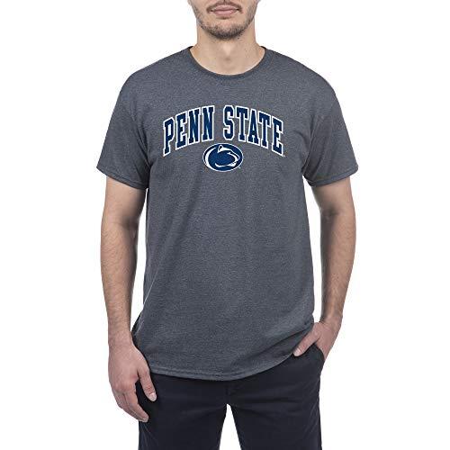 Elite Fan Shop Penn State Nittany Lions Mens Short Sleeve Arch Tee Shirt Dark Heather XX Large Penn State Nittany Lions Dark Heather 16853DHArch
