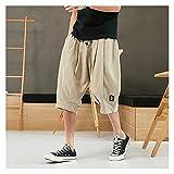 Ddcjc Streetwear Shorts de los Hombres Casual Tamaño Grande Tamaño Shorts Men Rodilla Longitud Masculino Pantalones Cortos Cool (Color : Khaki, Size : 6XL.)