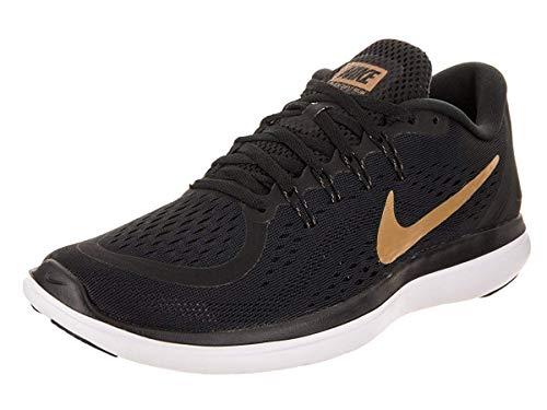 Nike Men's Flex 2017 Rn Running Shoe (8 D(M) US, Black/Metallic Gold-White)