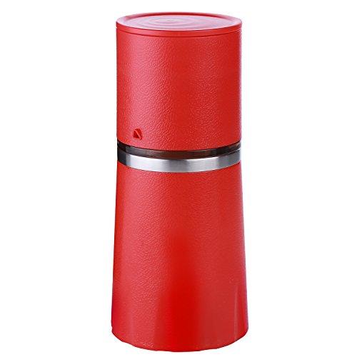 Molinillo y filtradora de café con taza para viaje todo en uno. 260ml. Cafetera portátil con disco de cerámica...