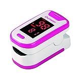 BESTSUGER Dito ossimetro Monitor, Si riferisce misuratore di frequenza cardiaca pulsossimetro, Dual...
