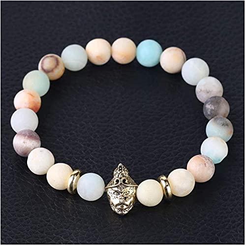 Tachibana Cuentas de oración Islam Feng Shui Bead Pulsera Piedra Natural Helada Pulsera Pulsera Beads Skull Buda Cabeza Reiki Joyería para Hombres Mujeres Amuleto Bead Pulsera (Size : Sun Wukong)