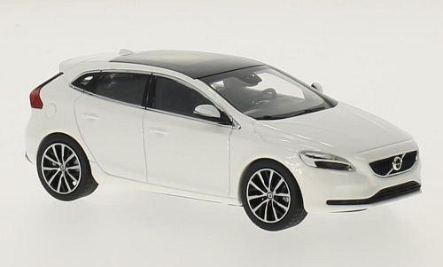 Volvo V40, metallic-weiss, 2016, Modellauto, Fertigmodell, Norev 1:43