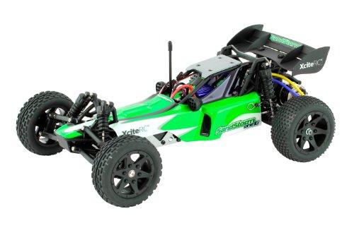XciteRC 30302000  RC Auto Sandstorm one10 - 2WD Ready to Race Dune Buggy Brushed Modellauto, 1:10 mit 2.4 GHz Fernsteuerung, grün