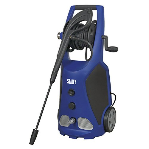 Sealey PW3500 Professional Pressure Washer TSS & Rotablast Nozzle, 140Bar, 230V, Black/Blue