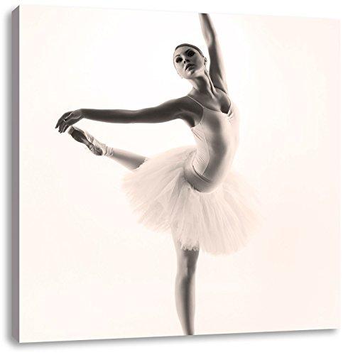 esthetische BallerinaCanvas Foto Plein | Maat: 40x40 cm | Wanddecoraties | Kunstdruk | Volledig gemonteerd