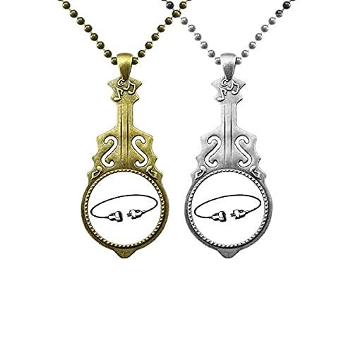 Kabel-Lademuster für SocketComment Liebhaber Musik Gitarre Anhänger Schmuck Halskette Anhänger