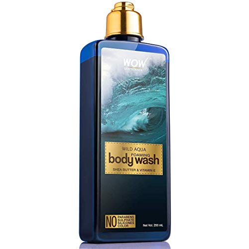WOW Skin Science Wild Aqua Foaming Body Wash - No Parabens, Sulphate, Silicones & Color, 250 ml
