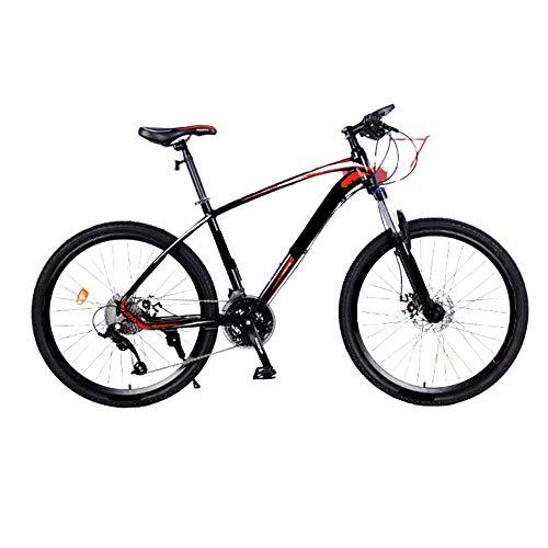 MH-LAMP Mountainbike 26 Pulgadas, Bicicleta Montaña Aluminio, Bicicleta 27 Velocidades, Doble Freno Disco, Horquilla Bloqueable, Liberación Rápida de Las Ruedas Delanteras