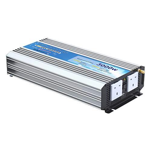 Inversor de Corriente de Onda sinusoidal Pura de 3000 W, batería de...